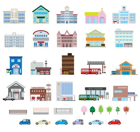 épület: Különféle építési Illusztráció