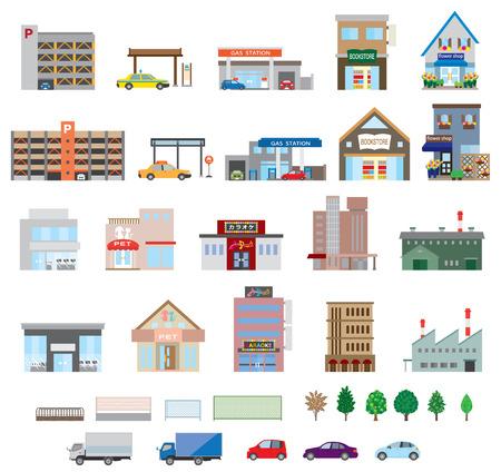 Various building Vettoriali