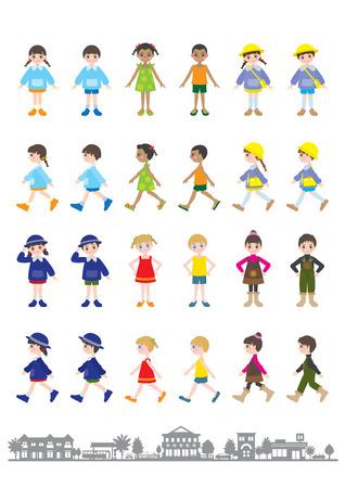 fellow: Illustrations of various people  Children Illustration