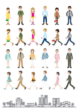 street people: Illustrations of various people  Young people Illustration