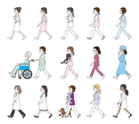 sideway: Those who are walking  Doctor & Nurse