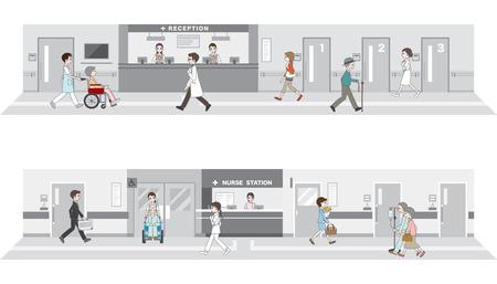 Illustration of the hospital