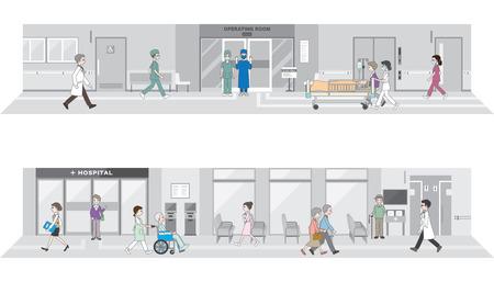 �ltere menschen: Illustration des Krankenhauses