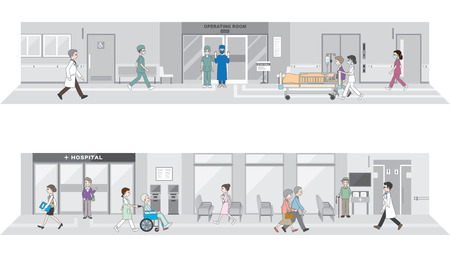 hospital interior: Illustration of the hospital