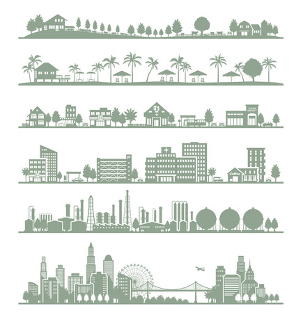 Various cities Vector
