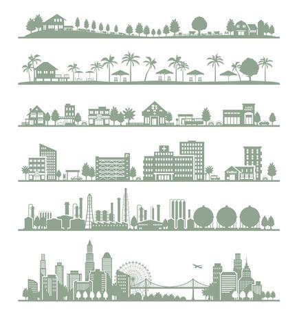 Verschillende steden Stock Illustratie