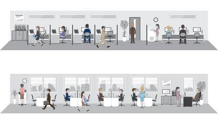 negociacion: Las personas que trabajan en la oficina