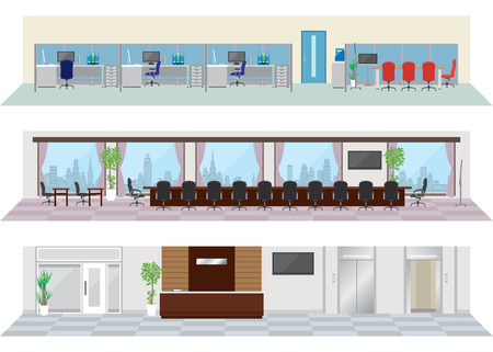 oficinistas: Oficina ilustraciones imagen