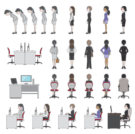 People who work  Businesswoman Vector