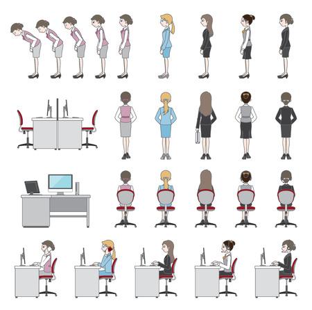 cadeira: As pessoas que trabalham  Negócios Ilustração
