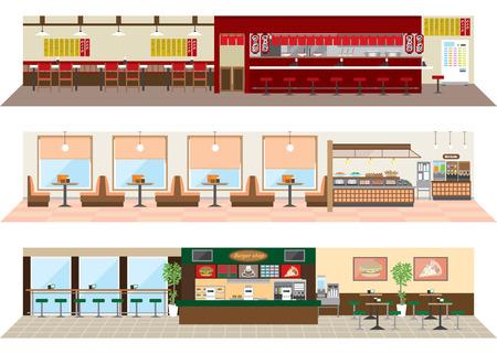 様々 なレストラン  イラスト・ベクター素材