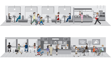 Gewerbe- / Menschen, die eine Mahlzeit zu genießen Standard-Bild - 38760368
