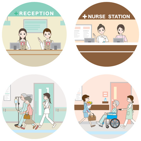 Hospital / Medical care  イラスト・ベクター素材