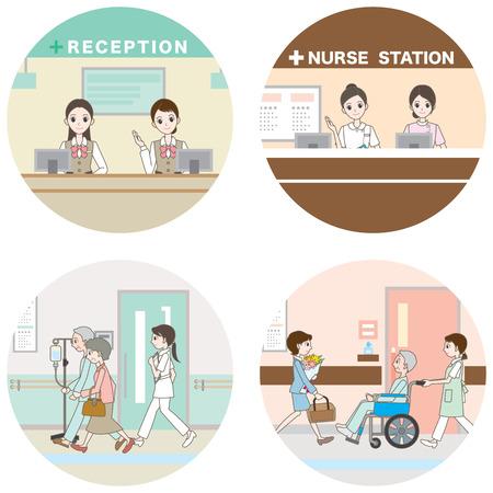 Hospital / Medical care Illustration