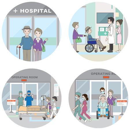 Hospital / Medical care 일러스트