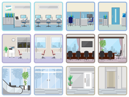 офис: Различный офис Иллюстрация