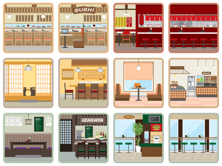 shop interior: Various restaurants