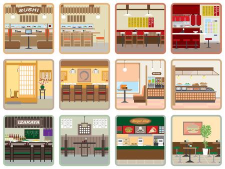 Various restaurants Vector