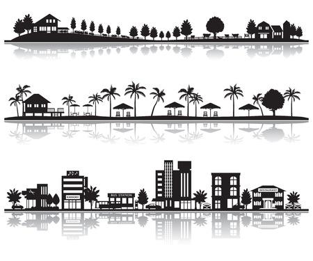 Diverse stad Stock Illustratie