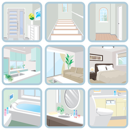 Interior / Room  イラスト・ベクター素材