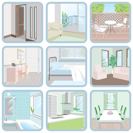 Interior / Room 向量圖像