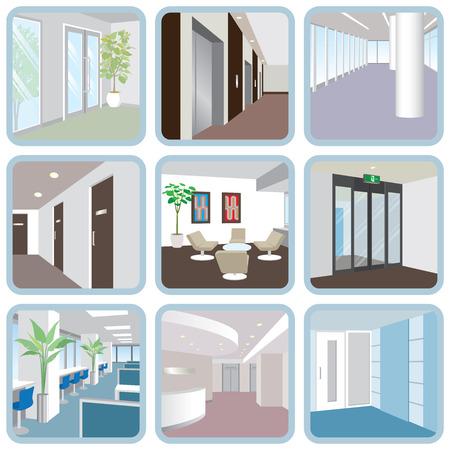 Various office Stock Illustratie