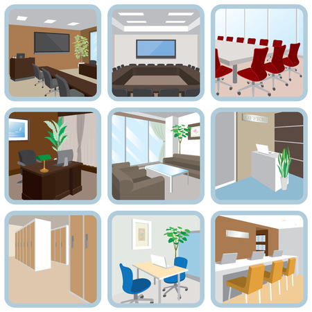 corridor: Various office Illustration