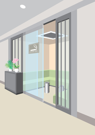 area: Smoking area Illustration