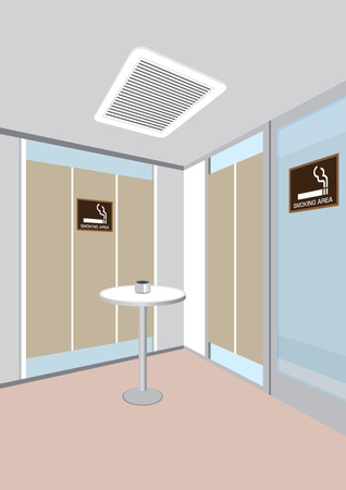 and the area: Smoking area Illustration