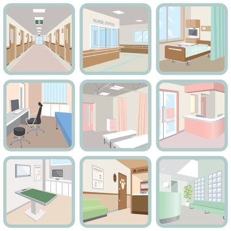 hallway: Hospital