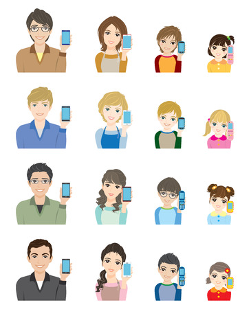sns: Family  Network Illustration