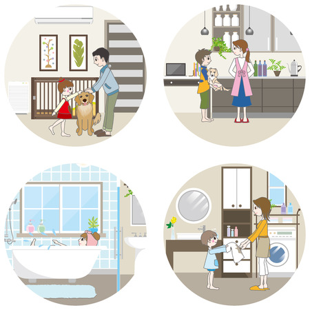 wife of bath: Living space  Family Illustration