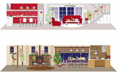 warm house: Living space  Christmas