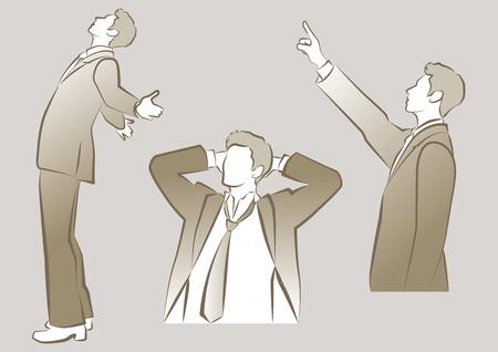 stressed people: Businessman Illustration