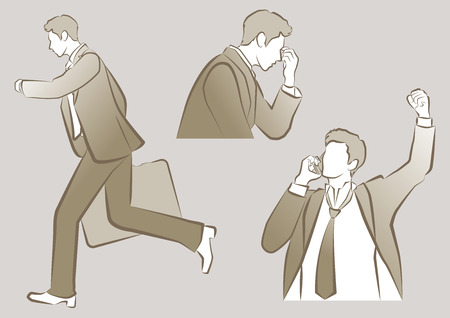 the whole body: Businessman Illustration