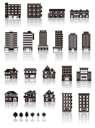 construccion: La construcci�n en el icono de la silueta Vectores