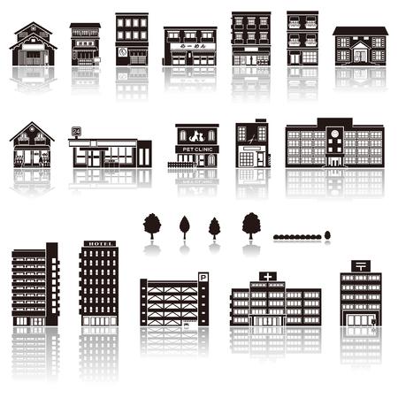 albergo: Costruire l'icona silhouette