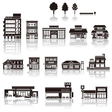 Construire l'icône silhouette Banque d'images - 47947488