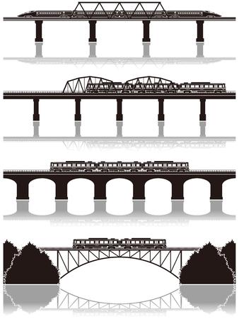 monorail: Railway  silhouette