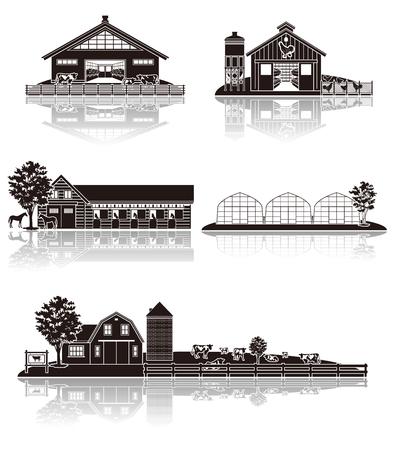 silhouette maison: L'élevage icône