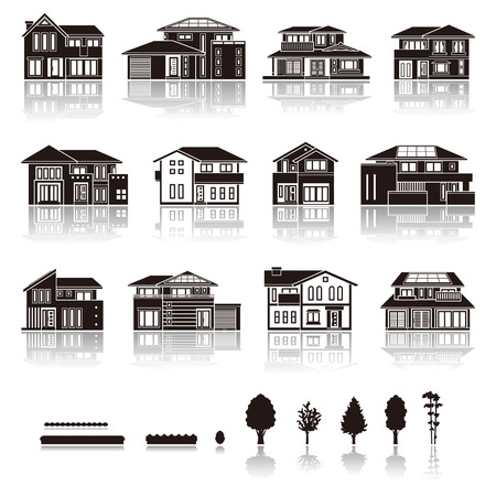 silhouette maison: MAISON icône