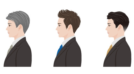visage profil: Coiffure affaires