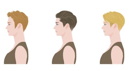 ojo humano: Peinado Vectores