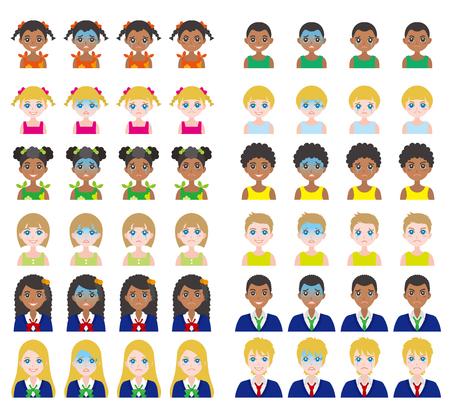 niños tristes: Expresión facial