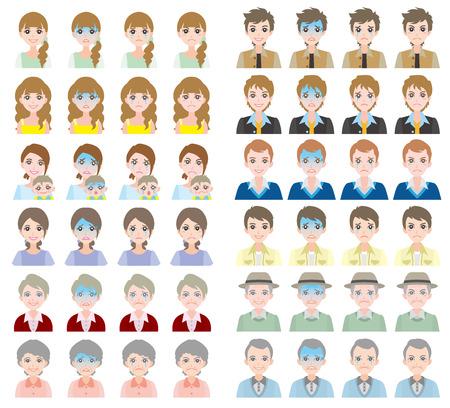 facial: Facial expression Illustration