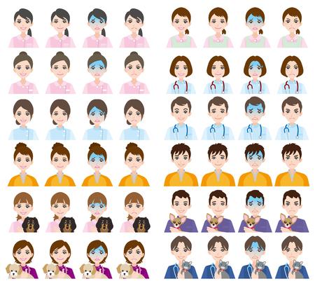 face expressions: Facial expression  Doctor  Nurse