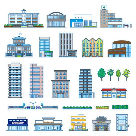 Various building Illustration