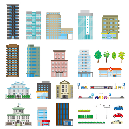 building: Various building Illustration