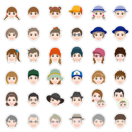 Icône de visage Banque d'images - 51995726