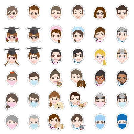 icon hospital: Face  icon